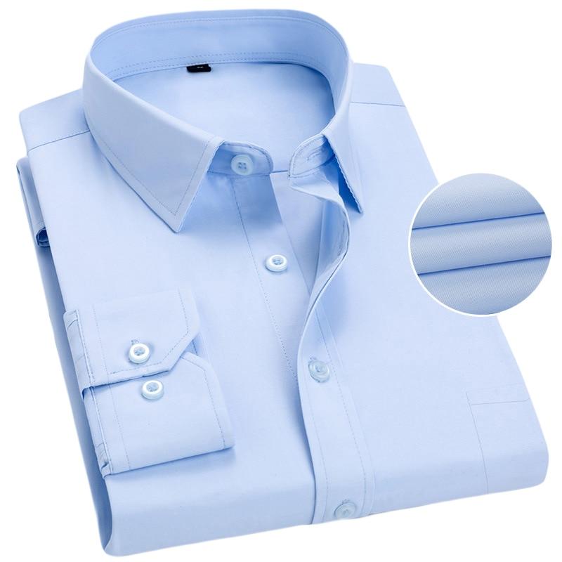 Men's Casual Shirt 2020 Summer Long Sleeve Slim Fit Business Shirts For Male Big Size 5XL 6XL 7XL Men Dress Shirt  Chemise Homme