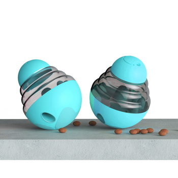 Food Dispensing and Transparent Smart Pet Toys Used as Food Treat Ball for Pet Dogs/Cats