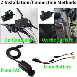 Image 4 - Xe Máy Xe Gắn Sạc USB Chống Nước Adapter 12V Điện Thoại Kép Sạc Nhanh 3.0 Vôn Kế Công Tắc On Off Moto phụ Kiện