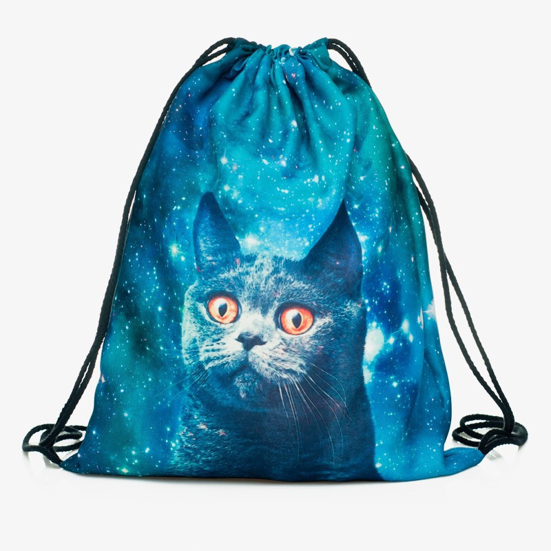 Backpack Drawstring Bag 3D Printing Cat Women Men Daily Casual  Mochila Knapsack Feminina Bundle Pocket Rope Document Bags  New