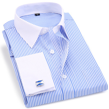 6XL 5XL Large Size French Cufflinks Mens Shirts Casual Slim Fit Men Shirt Long Sleeve French Cuff Mens Dress Shirts Street Wear недорого