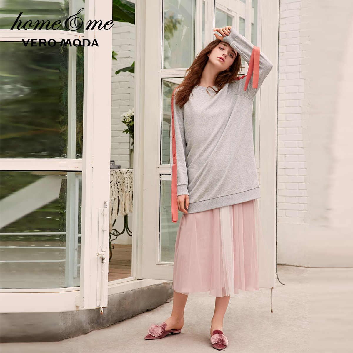 Vero Modaฤดูใบไม้ผลิLadyปุ่มริบบิ้นสูงถักLeisurewear | 3183R3502