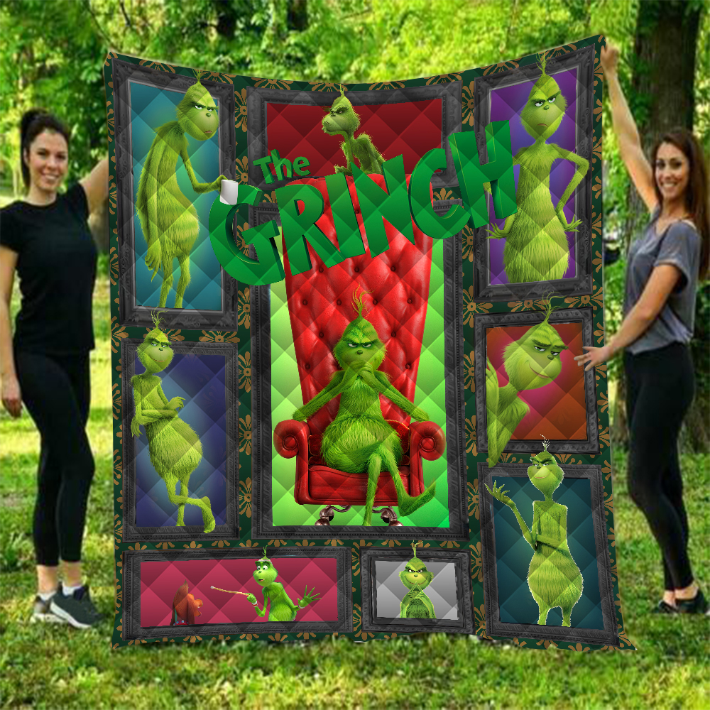How the Grinch Stole Christmas Printed Home Sofa Cover Quilt Queen Size Kids Adult Warm Blankets