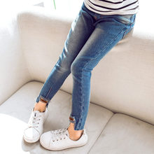 Skinny Fit Girls Jeans Denim Trouses Teenage Toddler Pants High Quality Kids Clothes 4 5 7 8 11 13 Years