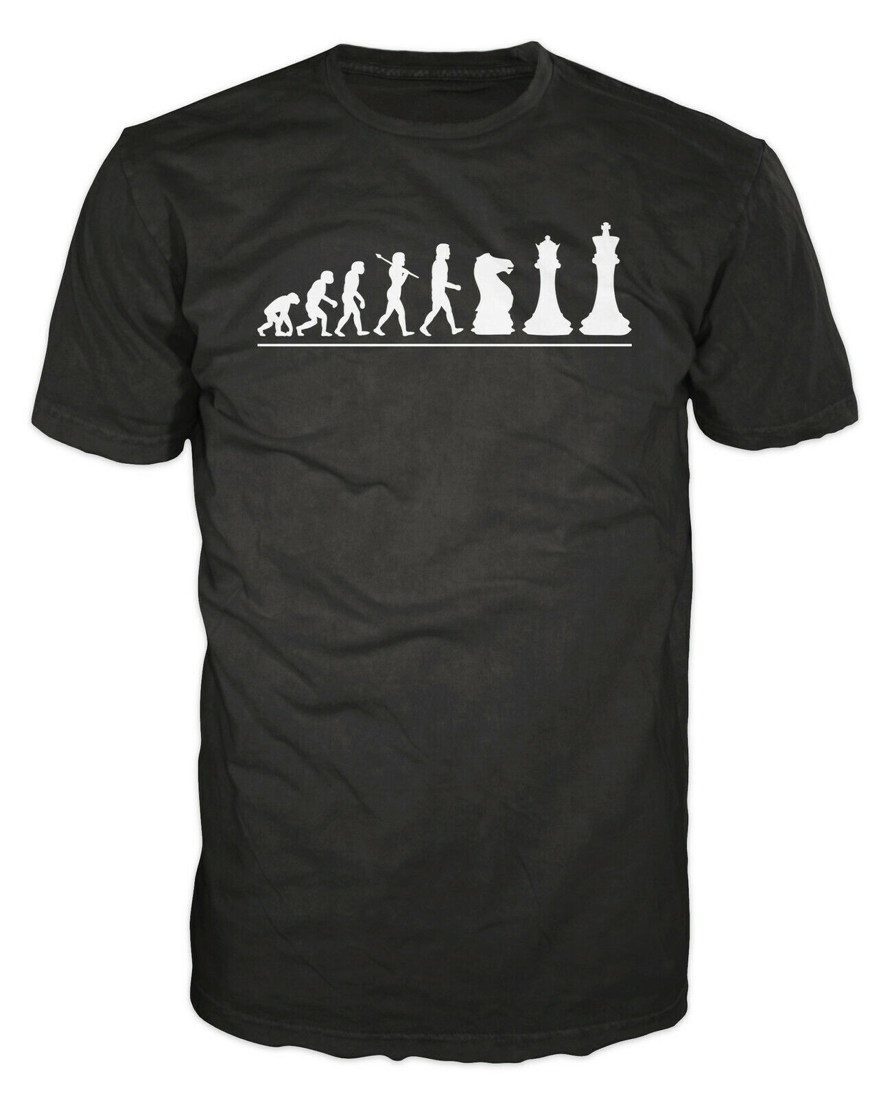 Chess Player Evolution Funny Mind Board Game Smart Moves T-shirt image