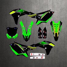 KX250F 17 18 Motorcycle Team Graphics Decals Stickers For Kawasaki KX250F KX 250F 2017 2018 Custom Number Free