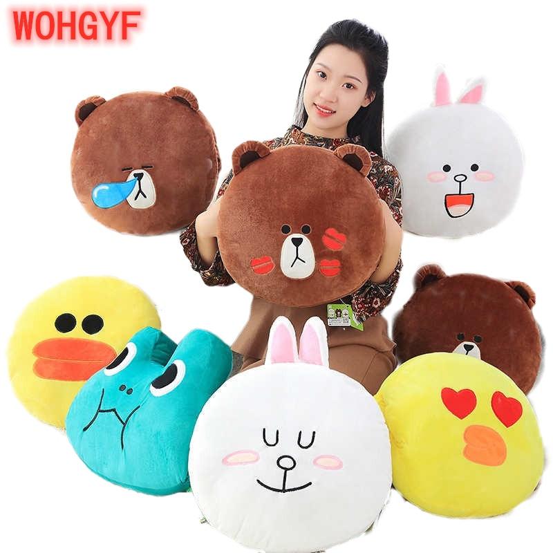 Brown Bear Cony Rabbit Plush Soft Pillow Warm Hand  Toy Japan Cartoon Doll For Girlfriend Birthday Present Christmas Gift