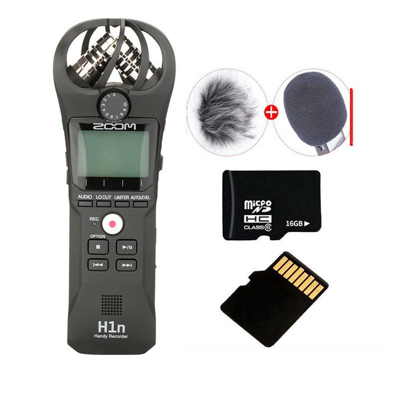 ZOOM H1 H1N Handy Recorder Digital Camera Audio Recorder Interview Recording Stereo Microphone for DSLR Boya BY-M1 Microphone image
