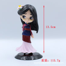 2-Bigeye Princess Mulan Long Hair Princess Garage Kit Children Toy Doll Cake Decoration(China)
