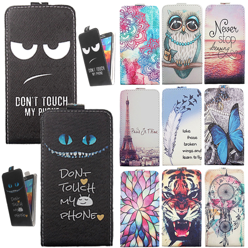 For Doopro C1 P2 P4 C1 P1 P2 <font><b>Pro</b></font> <font><b>P3</b></font> P4 P5 P5 <font><b>Pro</b></font> Phone case Painted Flip PU Leather Cover for Cricket Vision Wave image