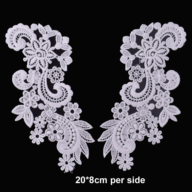 White Embroidery Flower Lace Neckline Fabric DIY Lace Collar Sewing Craft Neckline Trimming Decoration Scrapbooking Style 1