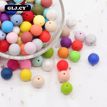 15mm 10pc Silicone Beads Food Grade Silicone Baby Teething Products