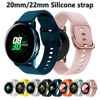 Silicone Band for Samsung Galaxy Watch 46mm 42mm Sports Strap for Samsung Gear S3 Frontier/Classic active 2 Huawei Watch gt2e 22mm watch band leather strap for huawei gt2e watch strap for samsung galaxy watch 46mm watchband for samsung gear s3 frontier