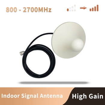 N Connector 800-2700hz Indoor Ceilling Antenna GSM 3G 4G 8dBi Internal Omni Antenna With 3m Cable For Mobile Signal Booste