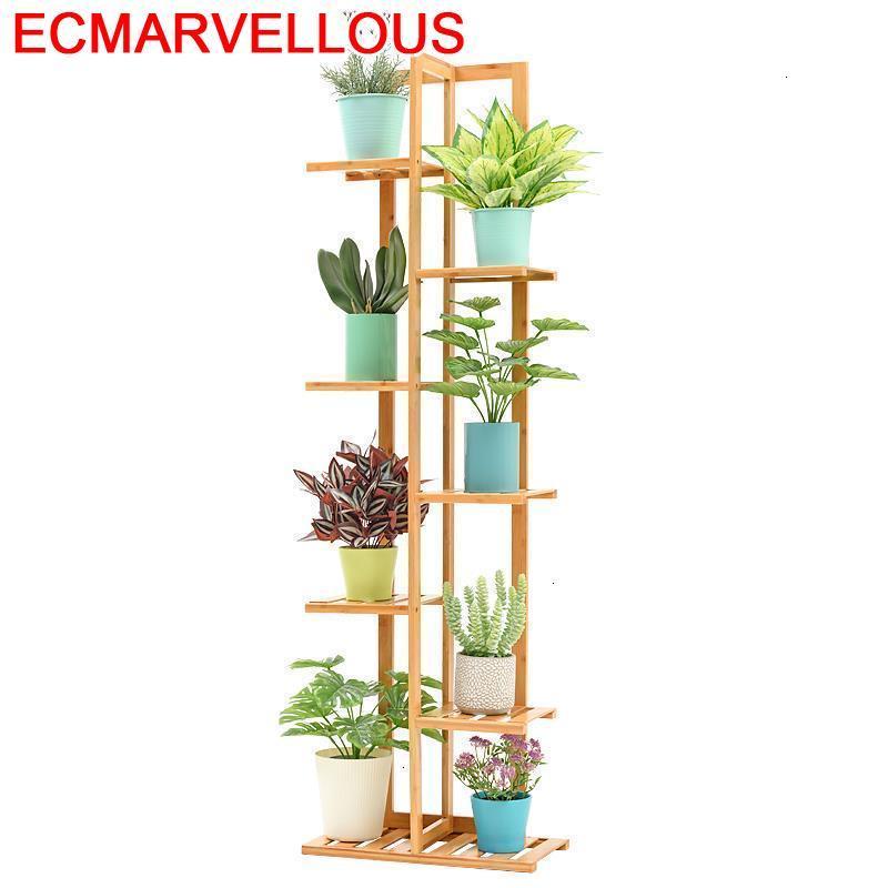 Indoor Escalera Mueble Wooden Shelves For Jardin Estanteria Para Plantas Dekoration Outdoor Balcony Flower Shelf Plant Stand