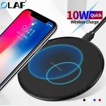 オラフワイヤレス充電器xiaomiマイル 10 ワイヤレス用のパッドレシーバー充電iphone 11 プロmax x 8 プラスサムスンS10 S9 プラス