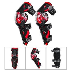Image 2 - Vermelho da motocicleta joelheiras motocross joelho guarda proteção da motocicleta motocross equipamentos quatro temporada de corrida guardas engrenagens segurança