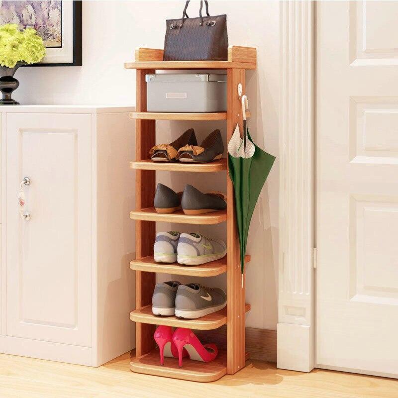 High-end high-quality simple shoe rack home living room bedroom high heel leather shoes debris multi-layer storage rack