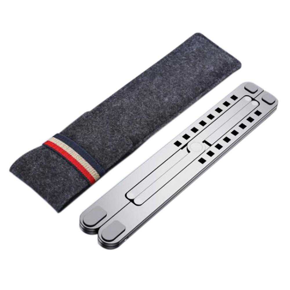 11-17inch Cooling Rack Folding Adjustable Angle Aluminum Alloy Desktop Portable Holder Office Universal Non Slip Laptop Stand(China)