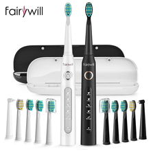 Sonic Electric Toothbrush Usb-Charger 10-Brush-Heads Fairywill FW-507 Timer 5-Modes Replacement