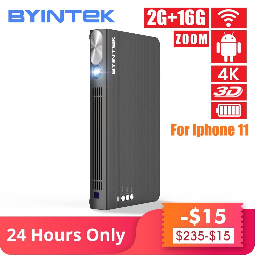BYINTEK UFO P12 300 pouces 2019 plus récent Smart 3D Full HD 4K 5G WIFI Android Pico Portable Micro Mini LED DLP projecteur pour Iphone 11