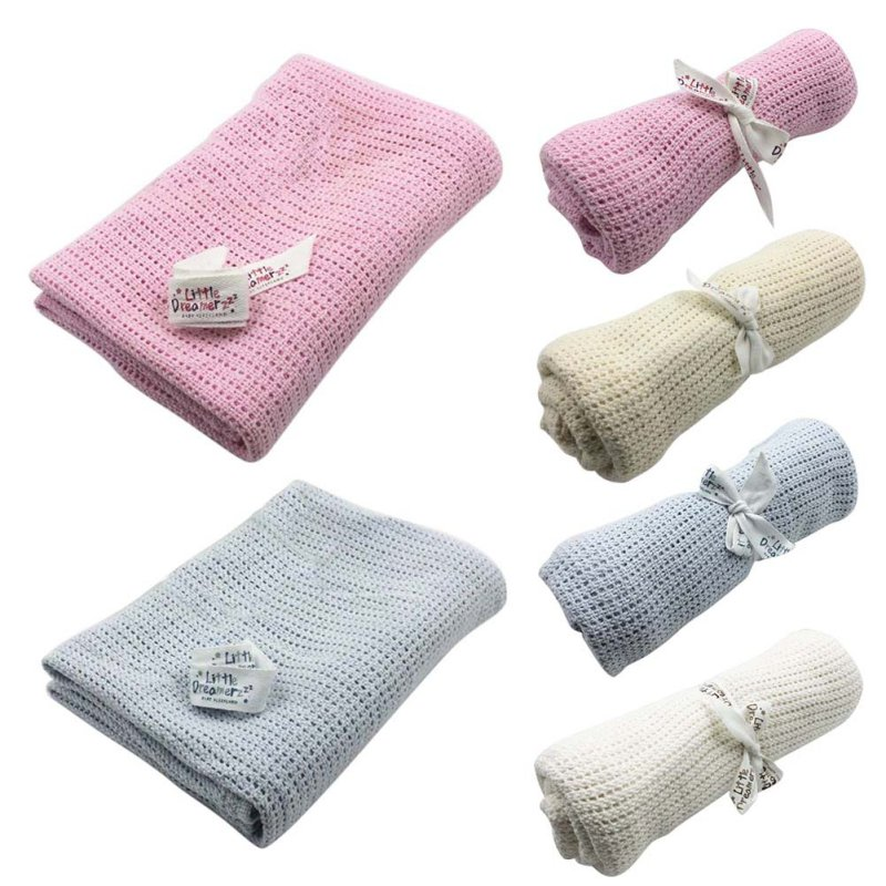 Baby Blanket Knitted Woolen Newborn Blankets Super Soft Wrap Infant Swaddle Kids Stuff For Monthly Toddler Bedding 100cmX75cm