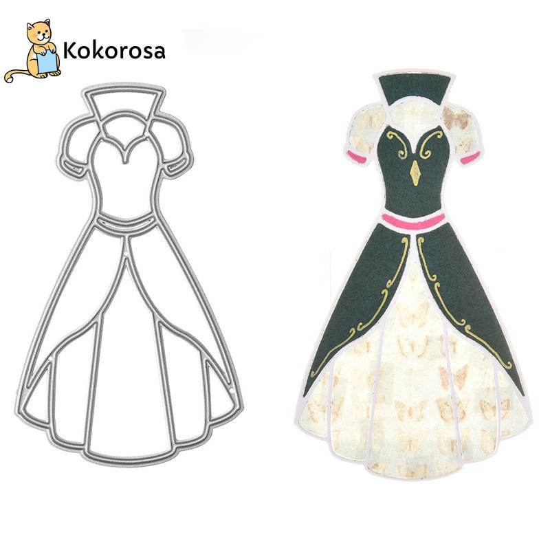 Kokorosa Dress Skirt Clothes Metal Cutting Dies For Craft Dies Scrapbooking Album Card Making Embossing Stencil Die Cut Decor