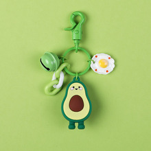 2019 The new fashion Avocado Keychain Cartoon Epoxy Fruit Key Chain Car ring Accessories Men Women Bag Charms Pendant