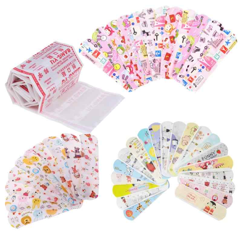 50 Pcs Waterdichte Lijm Ademend Cartoon Band Aid Hemostase Pleisters Ehbo Emergency Kit Voor Kids Kinderen