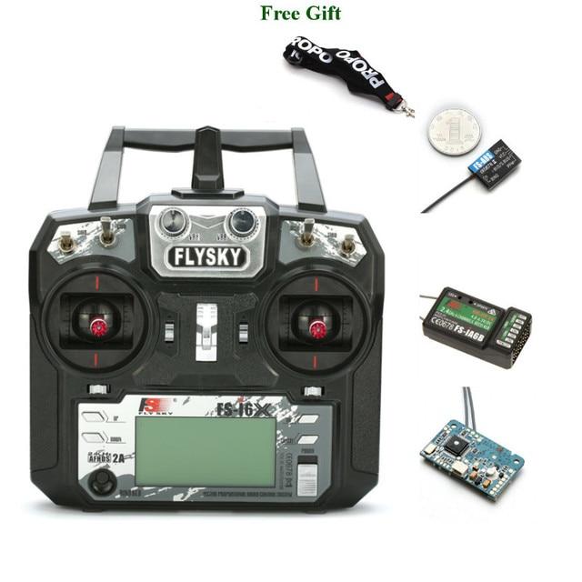 FLYSKY transmisor para Dron de carreras con visión en primera persona, FS i6X i6X 2,4G, 10 canales, AFHDS 2A, receptor X6B iA6B A8S V2