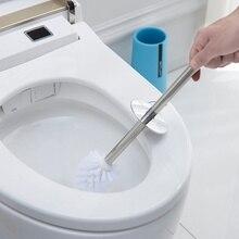 Ершик для унитаза из нержавеющей стали с длинной ручкой и базовым держателем лаконичный бытовой инструмент для чистки ванной комнаты