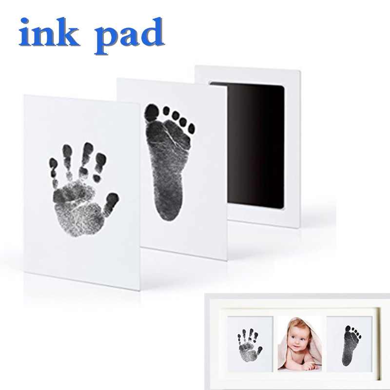 Baby Hand Print Footprint Imprint Kit Baby Handprint Mud And Foot Print Ink Pad Baby Souvenirs Baby Hand And Foot Mold Hundred