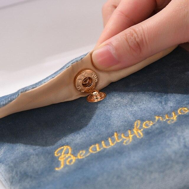 Фото женская мягкая бархатная косметичка с застежкой сумка для губной цена