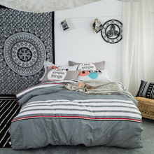 Evich 2020 New 100% Cotton Four-piece Bedding Set Ins Flamingo Single Bed Sheet Cotton Quilt Cover 1.8mx2.0m Bed Products