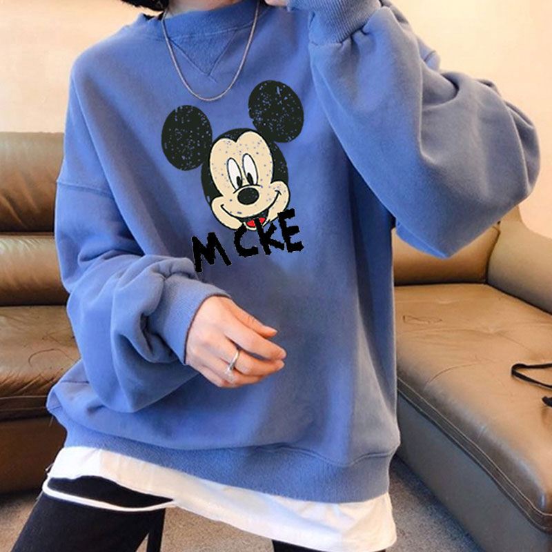 Cartoon Hoodie Women's 2020 New Style Versatile Mouse Thin Type For Spring Autumn Loose-Fit Sweatshirt Pullover Hoodies