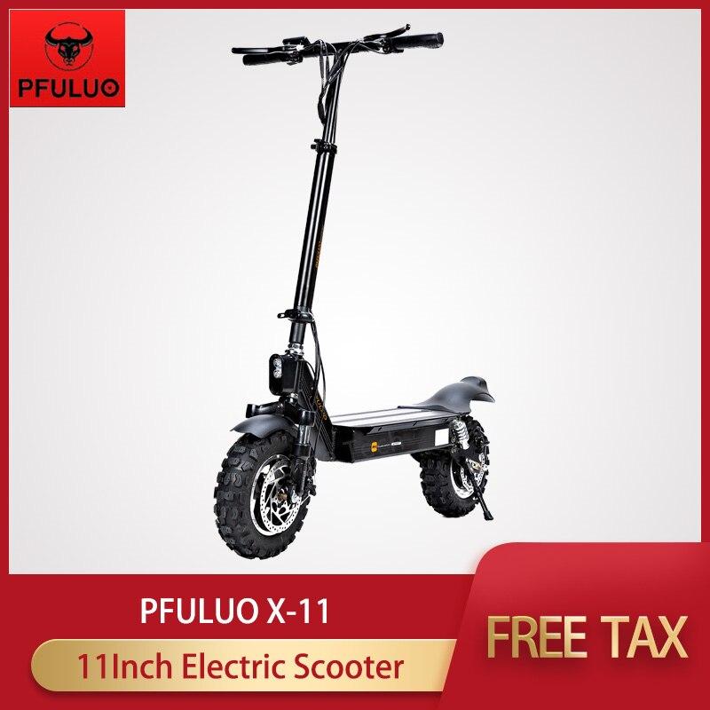 2019 novo pfuluo X-11 scooter elétrico inteligente 1000 w motor 11 polegada 2 placa de roda hoverboard skate 50 km/h velocidade máxima fora de estrada