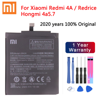 100% Original Battery BN30 ForXiaomi Redmi 4A Redrice Hongmi 4A Lithium Polymer Replacement Bateria Free Repair Tools