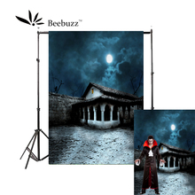 Beebuzz photo backdrop halloween new product eerie buildings in the dark moonlight background take pictures of parties