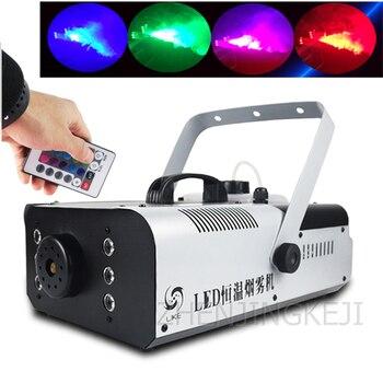 цена на 220v~240v Effects Smoke Machine Constant Temperature Smoke Machine Colorful Stage Spray Machine Small Dry Ice Smoke Machine