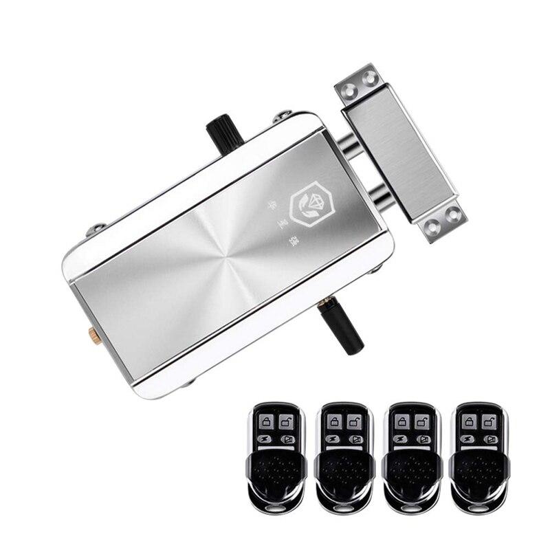 Güvenlik ve Koruma'ten Elektrikli Kilit'de ABKT ev kapı kilidi seti uzaktan kumanda anahtarsız giriş elektronik kilit akıllı kablosuz anti hırsızlık sürgü erişim kontrol sistemi için title=