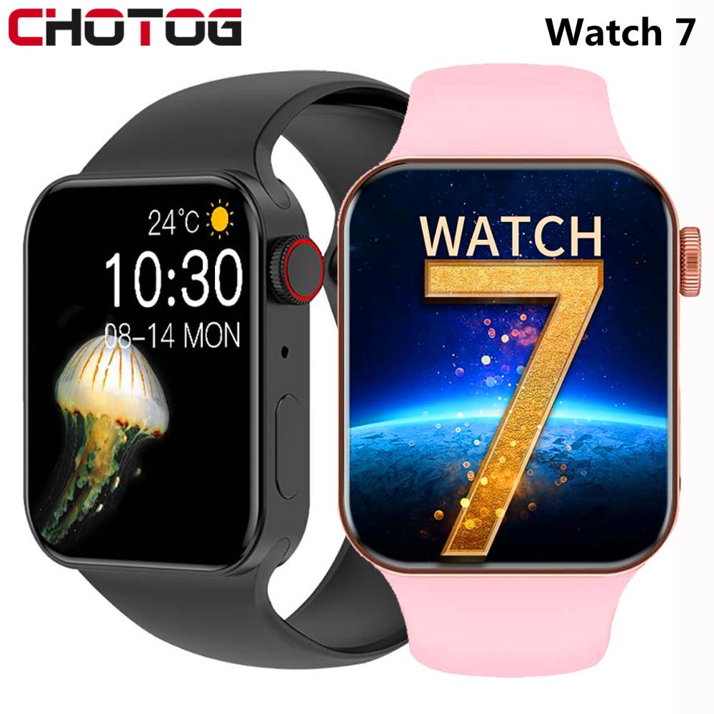 2021 IWO Smart Watch Series 7 Heart Rate Monitor Smartwatch Men Women...
