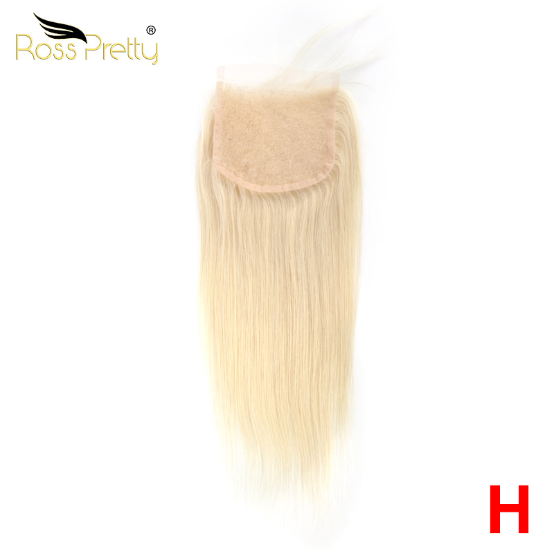 Blonde Lace closure Middle part and Free Part Human Hair Closure 613 Swiss 4*4 High Ratio Remy Ross Pretty Hair Product image