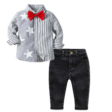 2019 Fashion Boys Clothes Sets Autumn Children Clothing Baby Boy Sport Suit T-shirt+Jeans Costume For Kids 2 3 4 5 6 Y