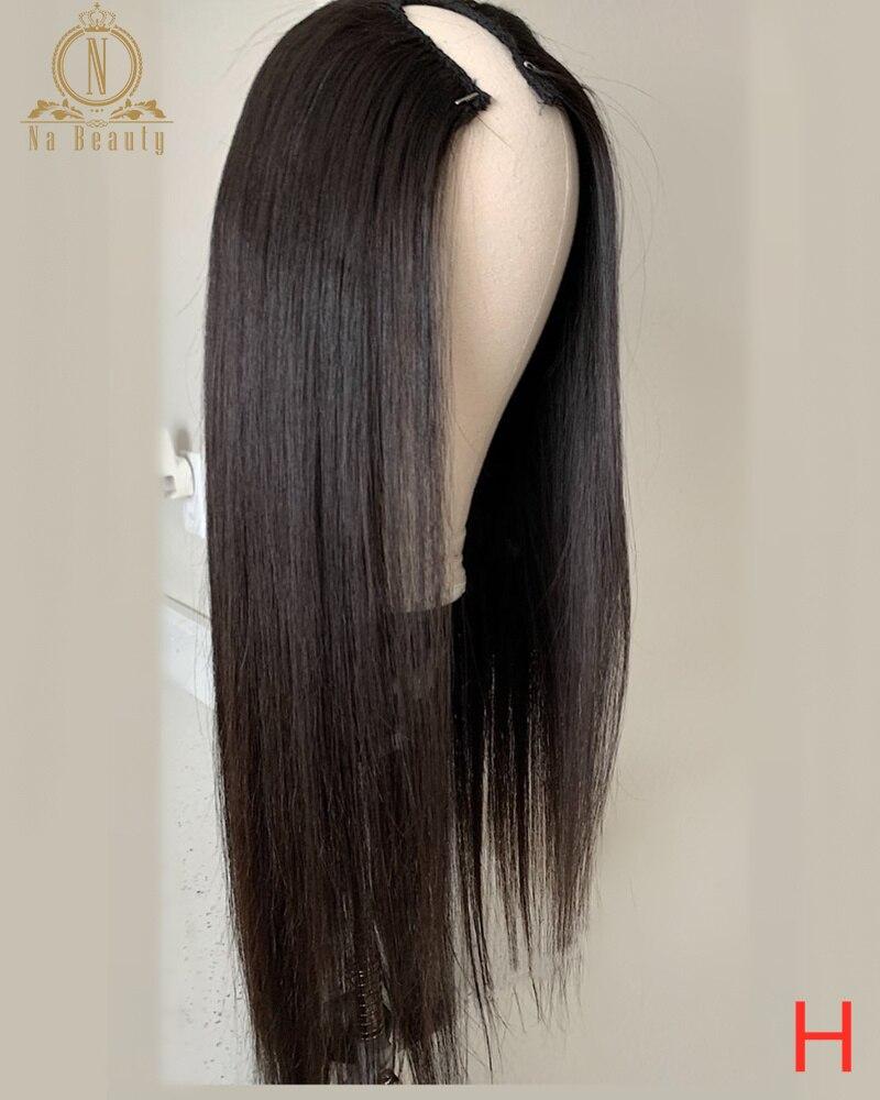 Glueless Straight Human Hair U Part Wigs For Black Women Peruvian Remy Hair Human Hair Wig 2