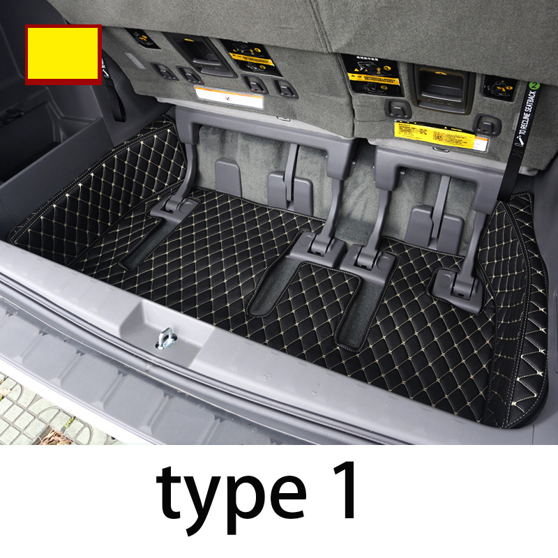 Lsrtw2017 de coche de cuero Mat tronco de carga del trazador de líneas para Toyota Sienna 2011, 2012, 2013, 2014, 2015, 2016, 2017, 2018, 2019 Xl30 accesorios