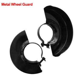 Black Cutting Machine Base Metal Wheel Guard Safety Protector Cover for Angle Grinder Grinding Machine Rack Tool Accessories black cutting machine base metal wheel guard safety protector cover for 125 angle grinder power tool accessories new