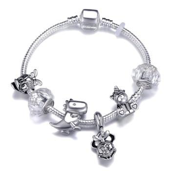 Cute Mickey Mouse Themed Bracelet Bracelets Jewelry New Arrivals Women Jewelry Metal Color: 23 Length: 18cm