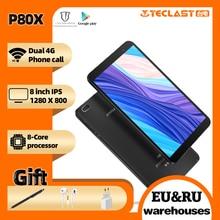 Teclast tablets p80x 4g android 9.0 phablet 8 polegada 1280x800 sc9863a octa núcleo 2gb ram 32gb rom tablet pc gps câmeras duplas