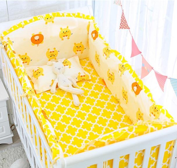 6/9pcs Crib Bedding Set Baby Bed Linen Baby Item Nordic Cotton Baby Bed Linen For Newborns  120*60/120*70cm