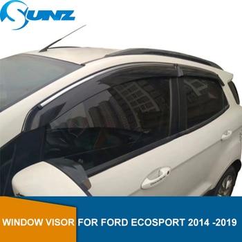 Side Window Deflector For Ford Ecosport Titanium 2014 2015 2016 2017 2018 2019 Window Shield Sun Rain Deflector Guards SUNZ window visor vent shades sun rain guard 4pcs for volvo xc60 2009 2015